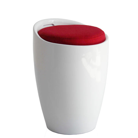 Fine Mod Imports Schnapps Stool, White - Sky Home Decor