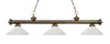 Z-Lite Riviera Antique Brass 200-3AB-AWL14 Island/Billiard Light