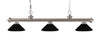 Z-Lite Riviera Brushed Nickel 200-3BN-MMB Island/Billiard Light