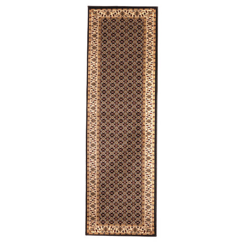 "Brillante Machine Made Black  Runner Rug (2'3"" x 7'6"") - Sky Home Decor"