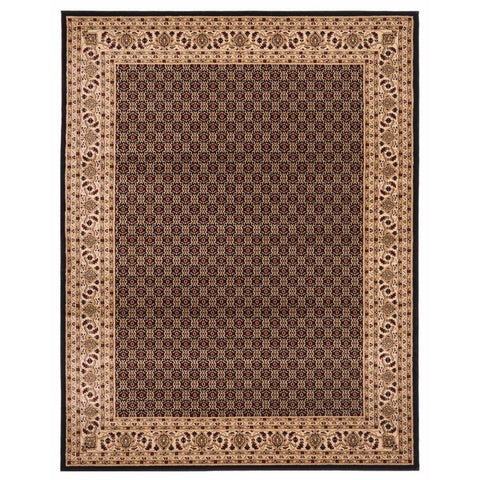 "Brillante Machine Made Black  Area Rug (4'11"" x 7'8"" Rectangle) - Sky Home Decor"