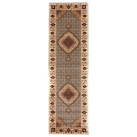 "Brillante Machine Made Blue  Runner Rug (2'3"" x 7'6"") - Sky Home Decor"