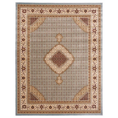 "Brillante Machine Made Blue  Area Rug (4'11"" x 7'8"" Rectangle) - Sky Home Decor"