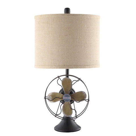 Crestview Antique Fan Table Lamp CVAER718 - Sky Home Decor