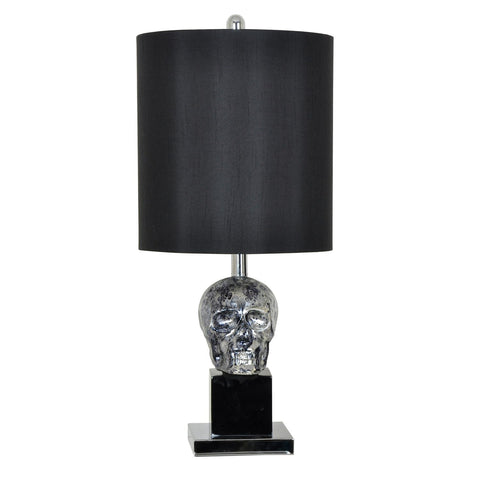 Crestview Black Skull Table Lamp CVAVP470