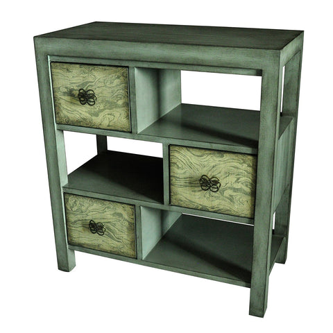 Crestview  Darby 3 Drawer Coventry Grey Offset Consoles CVFZR1845 - Sky Home Decor