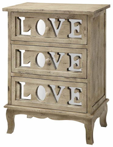 Crestview 3 Drawer Love Chest CVFZR864 - Sky Home Decor