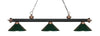 Z-Lite Rivera Matte Black & Antique Copper 200-3MB+AC-MDG Island/Billiard Light