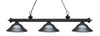 Z-Lite Riviera Matte Black 200-3MB-SGM Island/Billiard Light