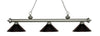 Z-Lite Riviera Antique Silver 200-3AS-MBRZ Island/Billiard Light