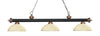 Z-Lite Rivera Matte Black & Antique Copper 200-3MB+AC-DGM14 Island/Billiard Light