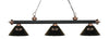 Z-Lite Rivera Matte Black & Brushed Nickel 200-3MB+BN-ARG Island/Billiard Light