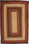 Homespice Decor Jute Braided Russet Area Rug
