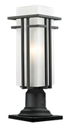 Z-Lite Abbey 549PHMR-533PM-BK Outdoor Light