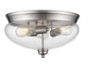 Z-Lite Amon 722F3-BN Flush Mount Light