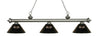 Z-Lite Riviera Antique Silver 200-3AS-ARS Island/Billiard Light