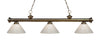 Z-Lite Riviera Antique Brass 200-3AB-PWH Island/Billiard Light