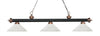 Z-Lite Rivera Matte Black & Antique Copper 200-3MB+AC-AWL14 Island/Billiard Light