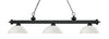 Z-Lite Riviera Matte Black 200-3MB-DMO14 Island/Billiard Light