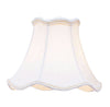 Livex Lighting Chandelier Shade  White Scallop Bell Clip Shade with Cream Trim S149