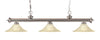 Z-Lite Riviera Brushed Nickel 200-3BN-FGM16 Island/Billiard Light
