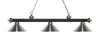 Z-Lite Rivera Matte Black & Antique Copper 200-3MB+AC-MCH Island/Billiard Light