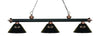 Z-Lite Rivera Matte Black & Antique Copper 200-3MB+AC-ARS Island/Billiard Light