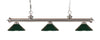 Z-Lite Riviera Brushed Nickel 200-3BN-MDG Island/Billiard Light