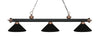 Z-Lite Rivera Matte Black & Antique Copper 200-3MB+AC-MMB Island/Billiard Light