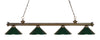 Z-Lite Riviera Antique Brass 200-4AB-MDG Island/Billiard Light