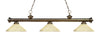 Z-Lite Riviera Antique Brass 200-3AB-AGM14 Island/Billiard Light