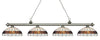 Z-Lite Riviera Antique Silver 200-4AS-F14-1 Island/Billiard Light