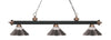 Z-Lite Rivera Matte Black & Antique Copper 200-3MB+AC-RBN Island/Billiard Light