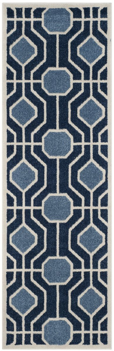 Safavieh Amherst AMT416Q Light Blue / Navy Rug