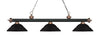 Z-Lite Rivera Matte Black & Antique Copper 200-3MB+AC-SMB Island/Billiard Light