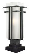 Z-Lite Abbey 549PHB-SQPM-BK Outdoor Light