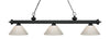 Z-Lite Riviera Matte Black 200-3MB-PWH Island/Billiard Light