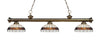 Z-Lite Riviera Antique Brass 200-3AB-F14-1 Island/Billiard Light