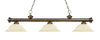 Z-Lite Riviera Antique Brass 200-3AB-GM16 Island/Billiard Light