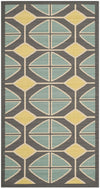 Safavieh Hampton HAM510BD Dark Grey / Light Blue Rug