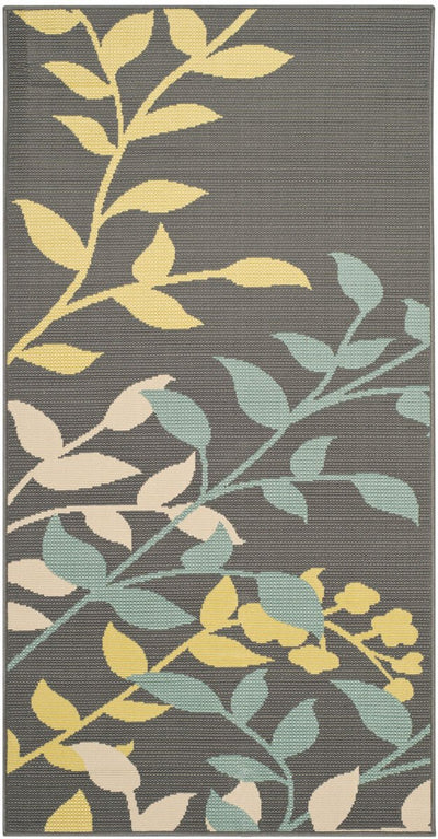 Safavieh Hampton HAM551BD Dark Grey / Light Blue Rug