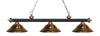 Z-Lite Rivera Matte Black & Antique Copper 200-3MB+AC-SAC Island/Billiard Light