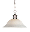 Z-Lite Riviera Bushed Nickel 100701BN-WM16 Pendant Light