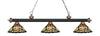 Z-Lite Rivera Matte Black & Antique Copper 200-3MB+AC-Z14-10 Island/Billiard Light