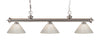 Z-Lite Riviera Brushed Nickel 200-3BN-PWH Island/Billiard Light