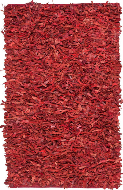 Safavieh Leather Shags LSG511D Red Rug