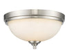 Z-Lite Bordeaux 435F2-BN Flush Mount Light