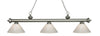 Z-Lite Riviera Antique Silver 200-3AS-PWH Island/Billiard Light