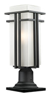 Z-Lite Abbey 549PHBR-533PM-BK Outdoor Light