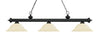 Z-Lite Riviera Matte Black 200-3MB-GM16 Island/Billiard Light
